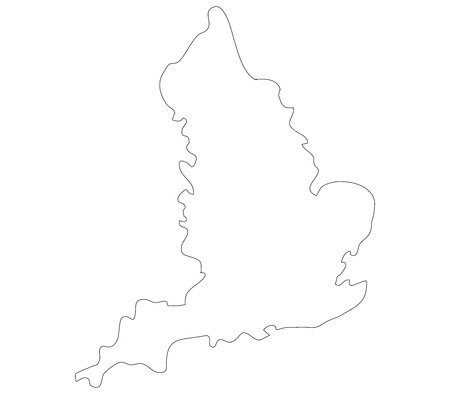 england map: england map on a white background