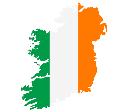 eire: Ireland map on a white background