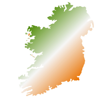 eire: Ireland map on a white background