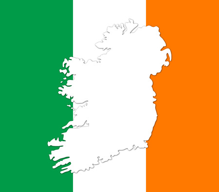 ireland map: Ireland map on a white background