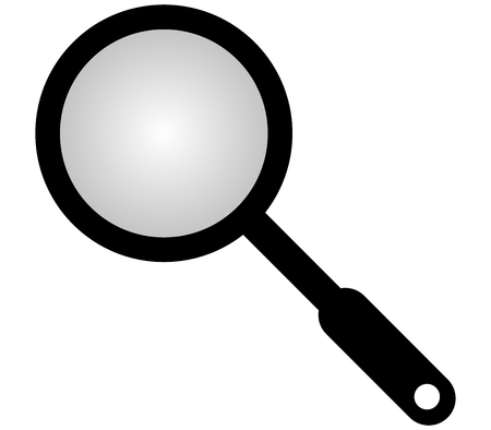 magnifying glass: magnifying glass on white background Stock Photo