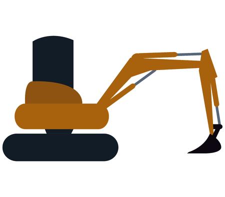 durability: excavator on white background Stock Photo
