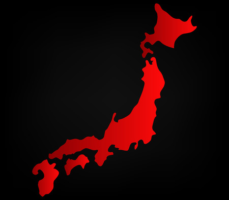 ideogram: japan map on a white background
