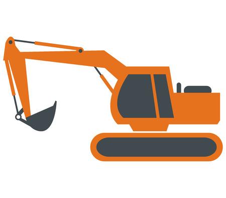 cutcat: excavator on white background Stock Photo