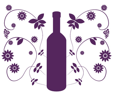 pinot noir: bottle of wine on white background