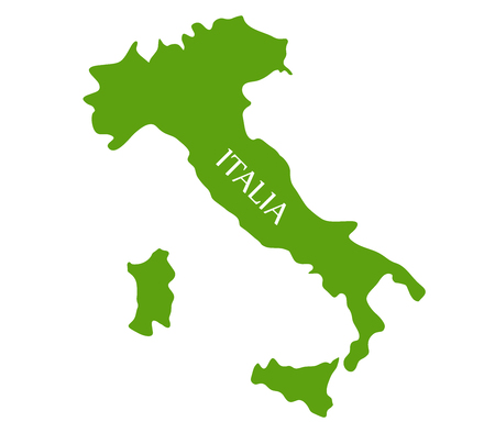 Italy map on white background