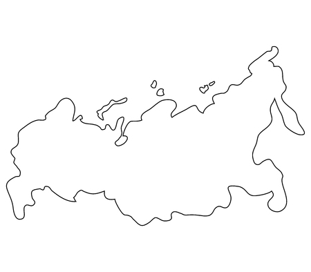 russia map on a white background Stock Photo