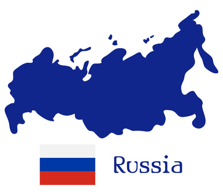 central european ethnicity: russia map on a white background Stock Photo