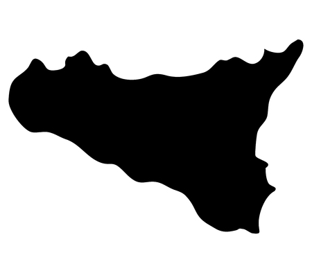 region sicilian: Sicily on white background