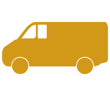 ship order: van on white background