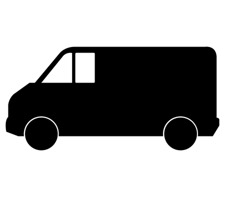 ship order: van on white background