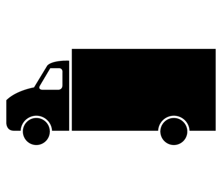 freighter: icon truck on white background Stock Photo