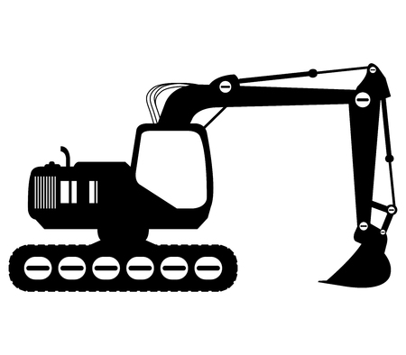 dozer: excavator on white background Stock Photo