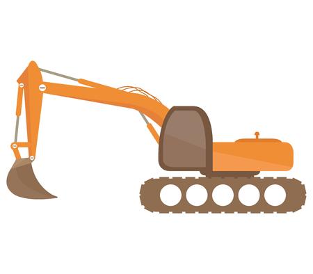 excavator: excavator on white background Stock Photo