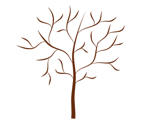 dry: dry tree on white background Stock Photo