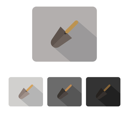 plasterer: icon trowel colored and illustrated in flat design