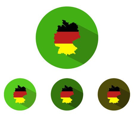 deutschland karte: Germany map icon in flat design Lizenzfreie Bilder