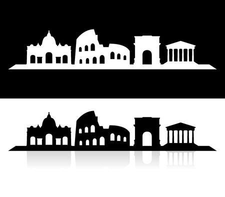 città di Roma orizzonte