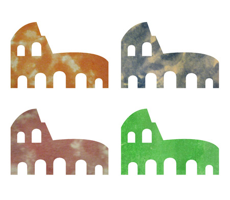 coliseum: coliseum in watercolor