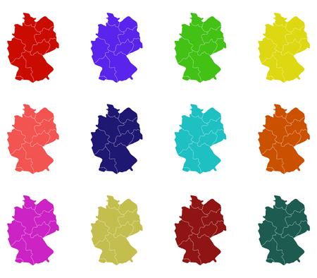 deutschland karte: Deutschland-Karte mit Regionen dargestellt