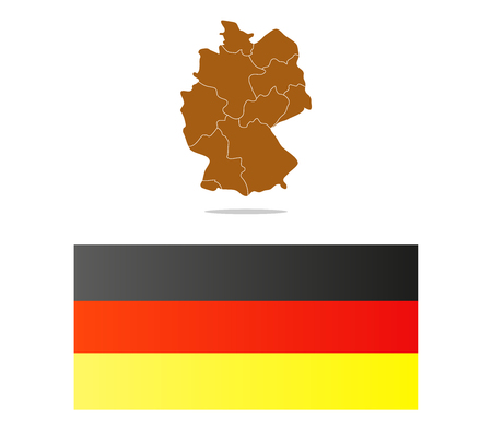 regions: germany map illustrated with regions