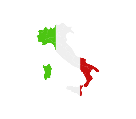 regions: Italy map with regions Stock Photo