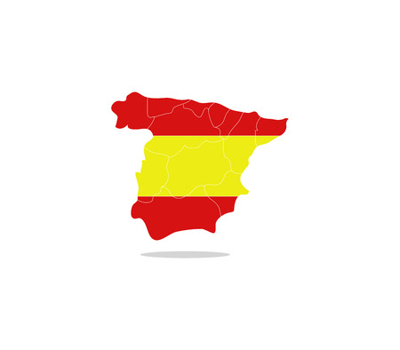 regions: Spain map with regions Stock Photo