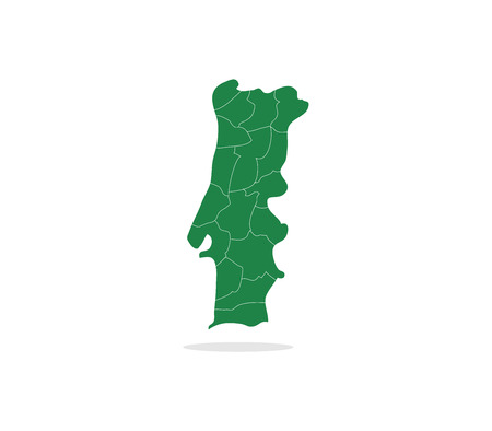 portugal: Portugal map with regions