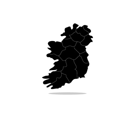 Ireland map with regions Banque d'images
