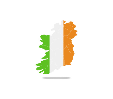 Ireland map with regions Stock Photo