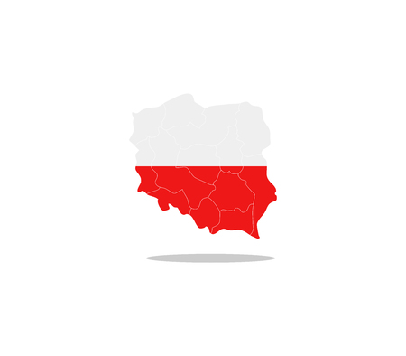 regions: Poland map with regions