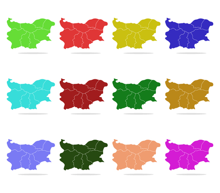 regions: bulgaria map with regions