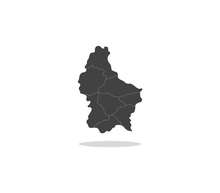 luxembourg: map luxembourg Stock Photo