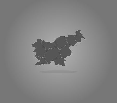 slovenia map with regions on a white background Stock Photo