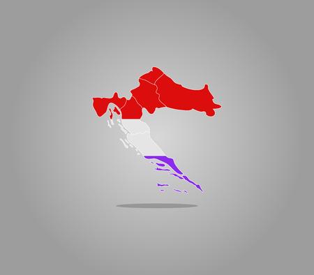 croatia: map croatia