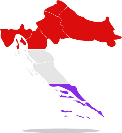 croatia: map croatia