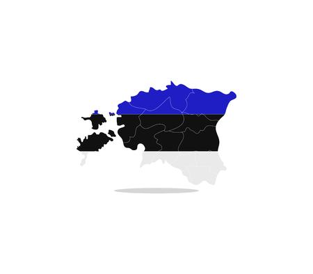 estonia: map estonia Stock Photo