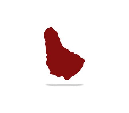 barbados: map barbados