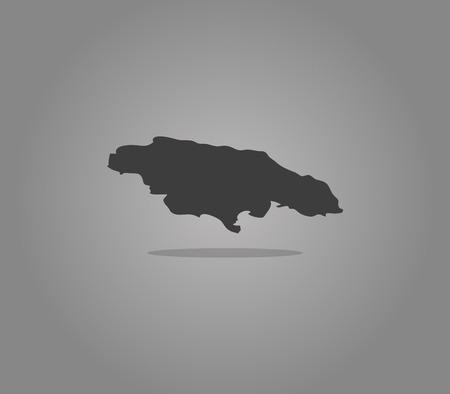 jamaica: map Jamaica Stock Photo