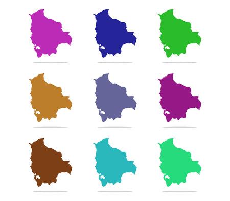 bolivia: map Bolivia Stock Photo