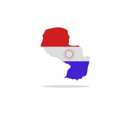 paraguay: map paraguay Stock Photo
