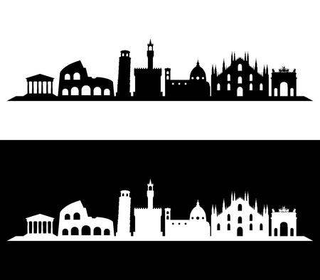 이탈리아의 스카이 라인은 도시 및 컬러