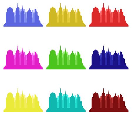 new york skyline: new york skyline Stock Photo