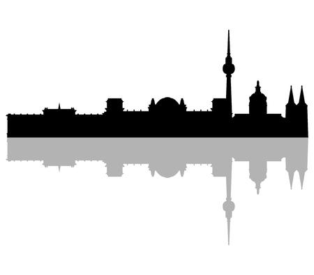 berlin: berlin skyline Stock Photo