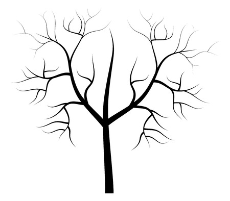 dry: dry tree illustration