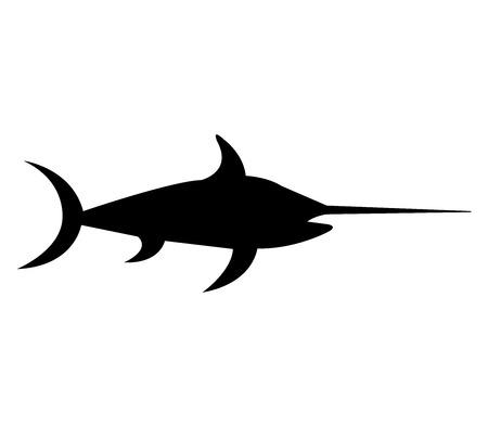 pez espada: El pez espada en el fondo blanco