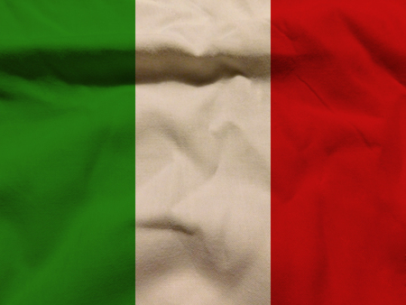 green been: flag Italy Stock Photo