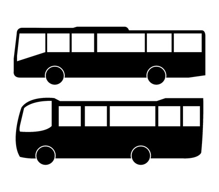 freighter: buses illustration on white background Stock Photo