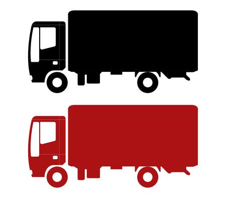 freighter: icon truck illustration on white background Stock Photo