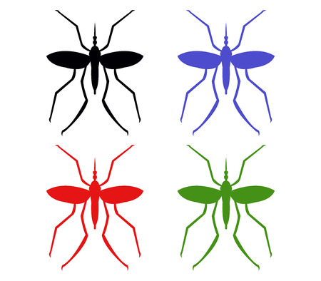 mosquitoes: mosquitoes illustration on a white background
